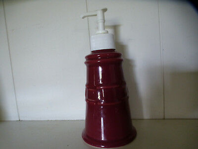 Longaberger Woven Traditions Pottery Paprika Soap Dispenser EUC!
