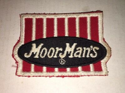 Vintage MoorMan's Feed Company Advertising Patch 3""