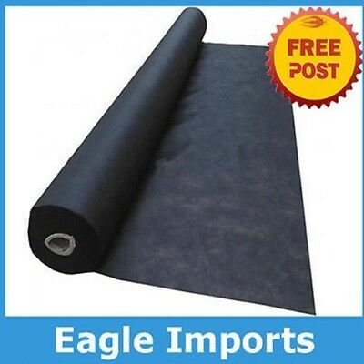 0.910m Wide Black Mulch Mat Spun Bond Weed Matting 30gsm x 50m roll