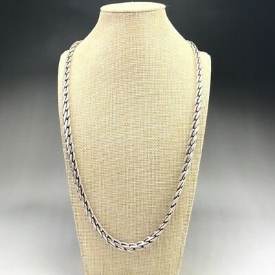 China's Tibet silver handmade craft fine necklace........