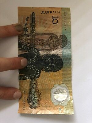 1988 Australian Note $10 Ten Dollar Johnston Fraser R310b AB30421047 Aboriginal