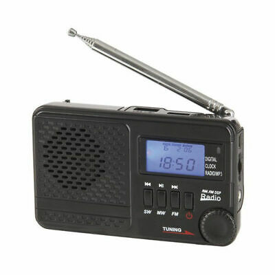 Portable Radio AM/FM/SW Rechargeable Radio LCD USB with MP3 digital Clock AR1721