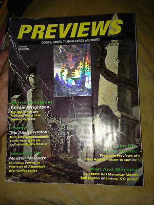Previews 1993 March Comics Games Trading Cards Horror Bernie Wrightson Hologram