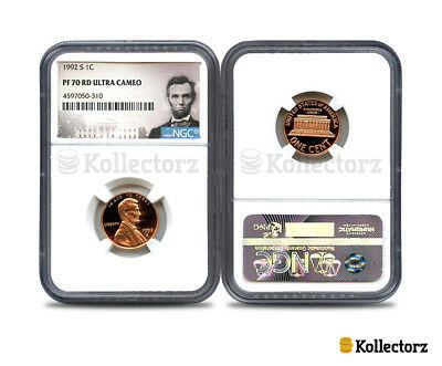 1992-S Lincoln 1C Ngc Pf70 Rd Ultra Cameo Portrait Label!