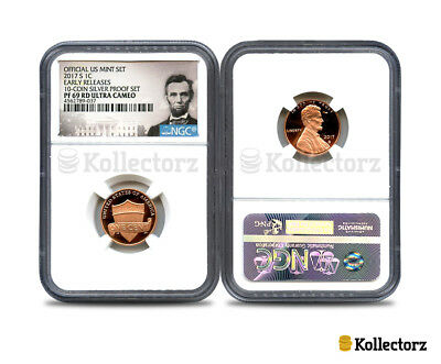 2017 S Lincoln 1C Ngc Pf69 Ultra Cameo Portrait Label Early Releases!