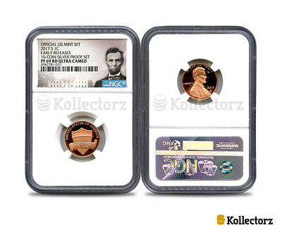 2017-S LINCOLN 1c PROOF NGC PF69 ULTRA CAMEO PORTRAIT LABEL EARLY RELEASES..
