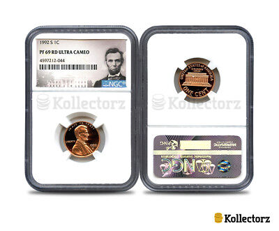 1992-S Lincoln 1C Ngc Pf69 Rd Ultra Cameo Portrait Label..