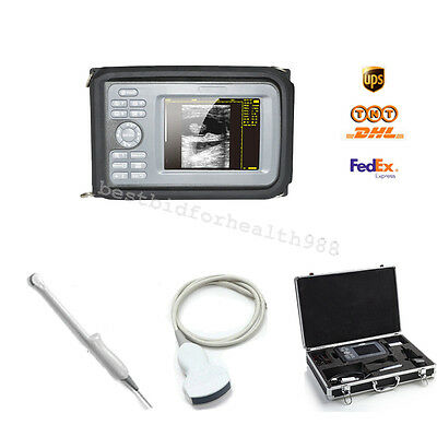 Color LCD Palmtop 5.5 Inch Ultrasound Scanner +Convex & Transvaginal 2 Probes CE