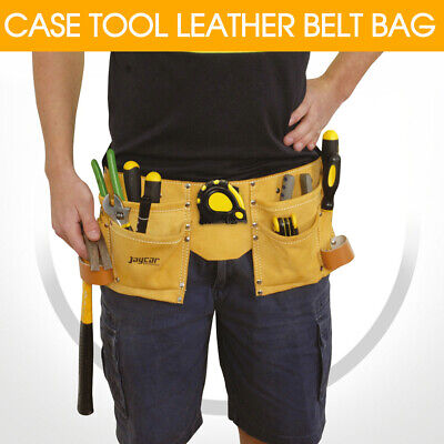 CASE TOOL LEATHER BELT BAG Adjustable For Carrying Hammer Measuring Tape HB6373