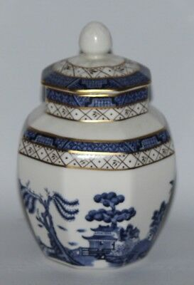 """Royal Doulton - Booths Real Old Willow, TC 1126 - 5 1/2"""" Octagonal Ginger Jar"""