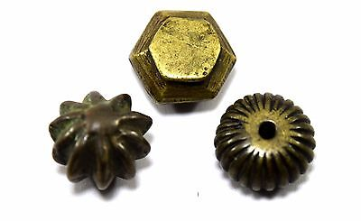 Lot Of 3 Antique different Shapes Opium Bronze Miniature Weight Scales. G15-137