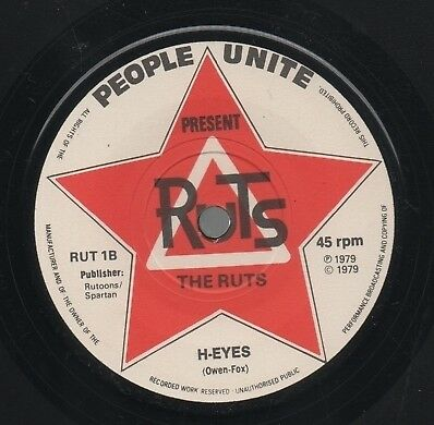 """THE RUTS   Rare 1979 UK Only 7"""" OOP Mint KBD Punk Single """"In A Rut"""""""