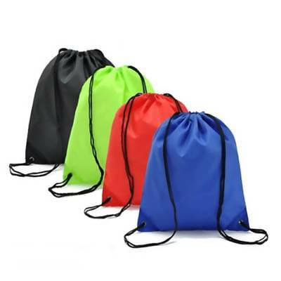 Travel Home String Drawstring Backpack Cinch Sack Gym Shoe Bag School Sport Pack