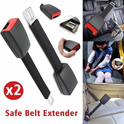 2Pcs Universal Car Auto Safety Seat Belt Seatbelt Extender Extension Buckle Clip