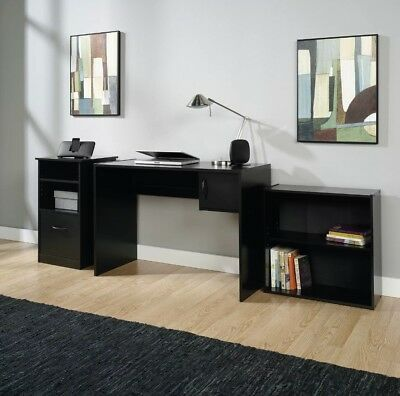 New Office Furniture Set Desk Home Table Wood Computer Cabinet Bookcase 3 Pieces