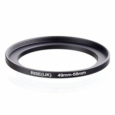 49 - 58 49mm to 58mm Stepping Step UP Filter Ring Adapter 49mm-58mm 49-58mm