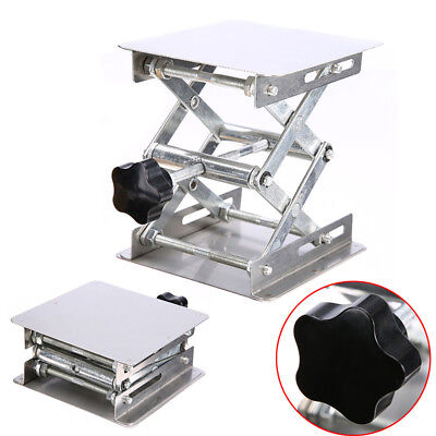 Silver Laboratory Lifting Platform Stand Lifter for Router Bench Table Woodworks