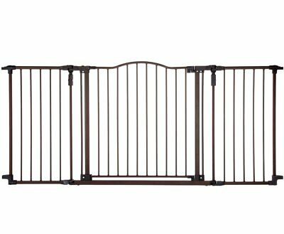 """Supergate Deluxe Décor Gate, Bronze, Fits Spaces between 38.3"""" to 72"""" Wide and 3"""