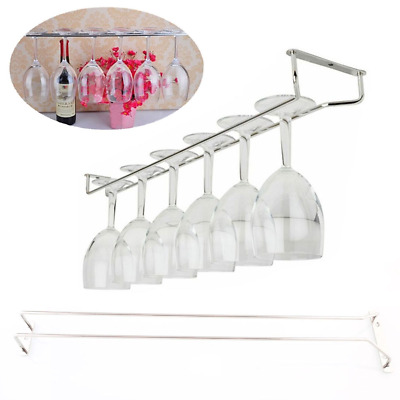 "55cm/21"" Wine Glass Rack Under Cabinet Hanging Stemware Holder Hanger Shelf Bar*"