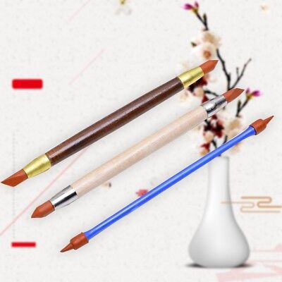 3pcs/set Silicon Shaper Pen Pottery Clay Sculpture Carving Modeling Shaping New
