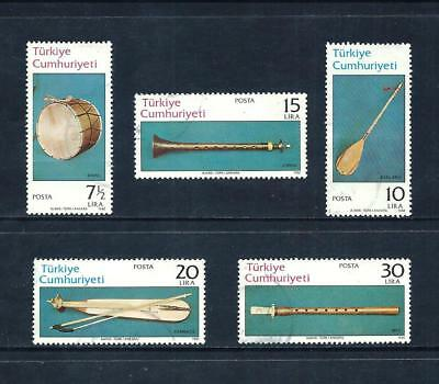 TURKEY _ 1982 'MUSICAL INSTRUMENTS' SET of 5 _ used ____(535)