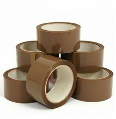 Adults Brown Buff Tape 48MM x 66MT Unisex Parcel Packing Tape Box Sealing Rolls