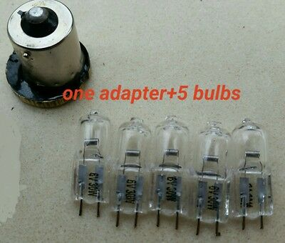 DR.G.FISCHER bulb substitute,minox enlarger lamp adapter+5 pieces of 6V 30Wbulbs