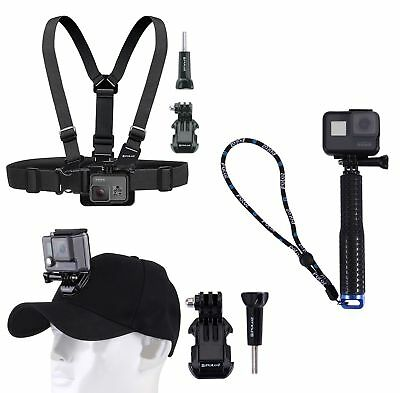 Puluz® GoPro Chest Strap, Cap Extendable Handle New Hero Fusion Session, Cameras