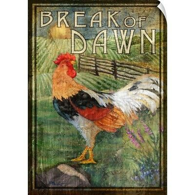 Wall Decal entitled Rooster Signs IV