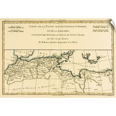 Wall Decal entitled North Africa, including the Kingdoms of Tripoli, Tunis,