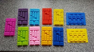 Rectangle Lego Bricks Cake Soap Shape Ice Cube Cubes Silicone Tray Mould Freezer