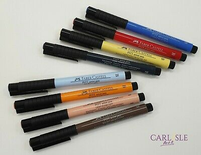 Faber-Castell Pitt Artist Pen Brush Nibs Single By One Choose Your Colour