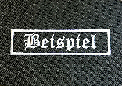 3 individuelle Namenspatches - Aufnäher Biker Kutte Streetfighter, Patch Name