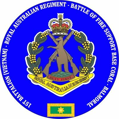 1St Battalion Rar Battle Of Fsb Coral -Balmoral Laminated Vinyl Sticker 100Mm