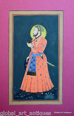 Rare Hand Painted Fine Decorative Collectible Indian Miniature Painting. G77-4