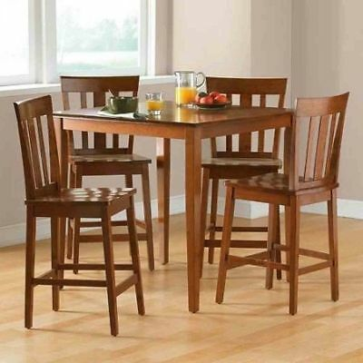 5-PIECE COUNTER HIGH Top Dining Set Kitchen Table and Chairs ...
