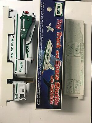 """Hess Collectable Toy """"truck And Space Shuttle W/ Satellite"""" 1999 Nib"""