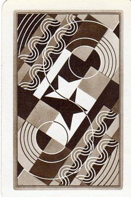 """RARE VINTAGE """"OXO (Art Deco Type) (Brown Card)"""" SINGLE Playing Card"""