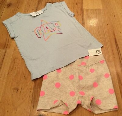 f95a97fc8249 BABY GAP GIRLS Size 4   4T Outfit. Star GAP Logo Shirt   Polka Dot ...