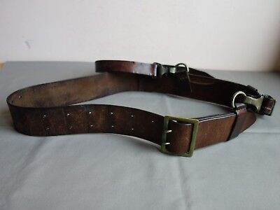Vtg Ww2 Wwii German Type Bulgarian Officer Luger, Walther Holster Leather Belt