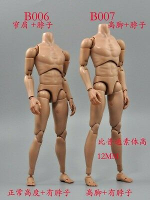 "1/6 Scale B006/B007 Narrow Shoulder Figure Model 12"" Male Body Toy"