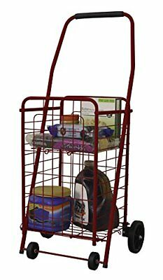 Helping Hand RED Pop 'n Shop Cart with Shelf