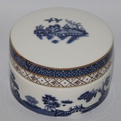 """Royal Doulton - Booths Real Old Willow, TC 1126 - 3 1/4"""" Round Trinket Box"""
