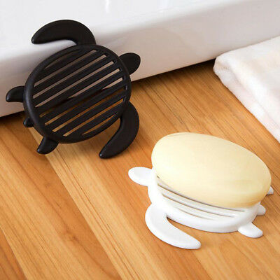 Accessories Tortoise-Shaped Soap Storage Holder Dishes Plate Tray Drain Creative