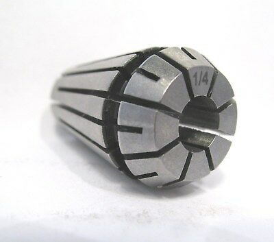 "ER16 SPRING COLLET 1/4"" - # 16250 - New - Free Shipping"
