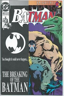 **batman #497**(Jul 1993, Dc)**1St Print**bane**knightfall**key Issue**movie**nm