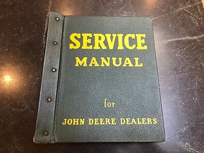 Vintage Service Manual for John Deere Dealers (2000 Series Tractors)