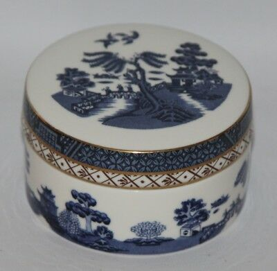 """Royal Doulton - Booths Real Old Willow, TC 1126 - 4"""" Round Trinket Box"""