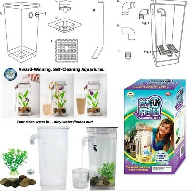 Beautiful Fish Tank Cold Water Aquarium self-cleaning fun kit Gravity Superfish