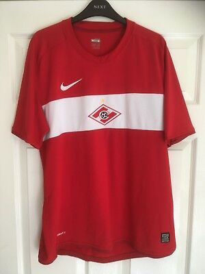 Nike Spartak Moscow Home football shirt 2009 Large trikot maglia Camiseta